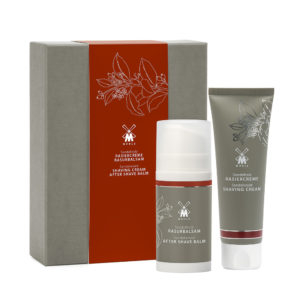 Skin care set with sandalwood