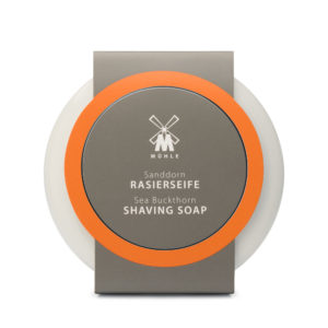 Shaving soap with sea buckthorn