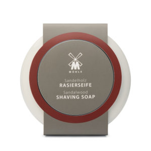 Shaving soap with sandalwood